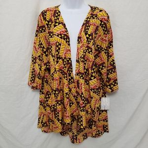 Soft LuLaRoe Lindsay Yellow Orange Cover Up Large